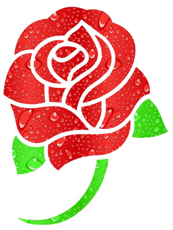 Fleur rouge - Fleur rose dessin ...
